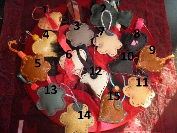 portes clefs en cuir (fabrication artisanale)