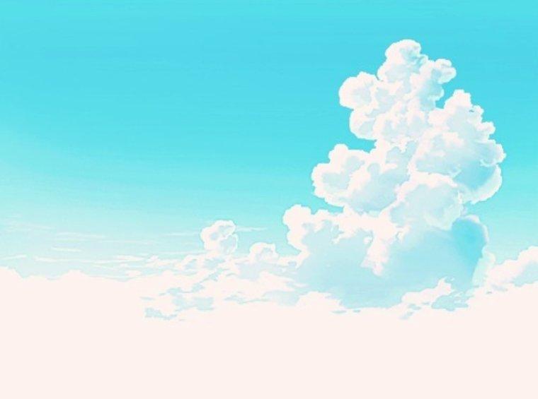 Ciel bleu et nuagé