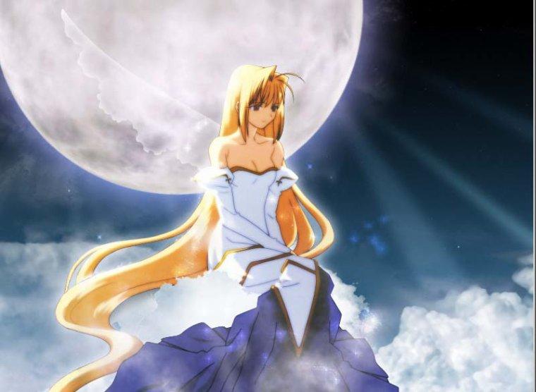 Ange au clair de lune