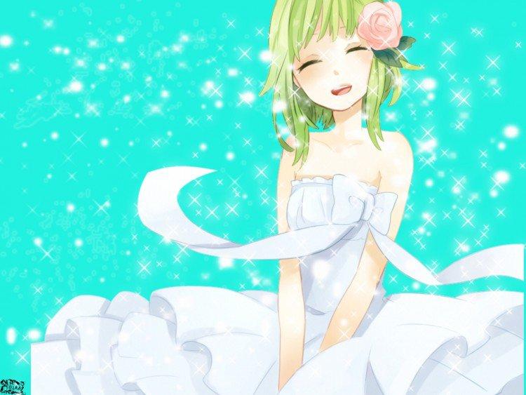 Gumi en robe blanche !