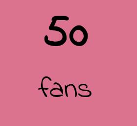 MERCI POUR LES 50 ANGES QUI ME SUIVENT!