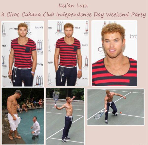 Photos de Kellan Lutz à Ciroc Cabana Club Independence Day Weekend