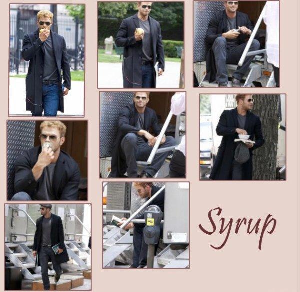 """Kellan Lutz Sur le tournage de """" Syrup"""""""