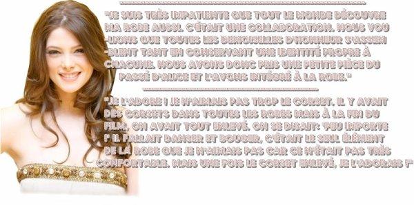 Ashley Greene parle de sa robe de demoiselle d'honneur dans Breaking Dawn
