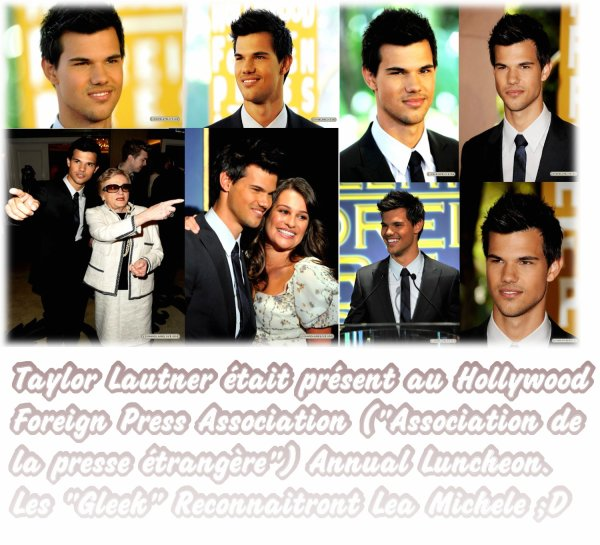 Taylor Lautner au Hollywood Foreign Press