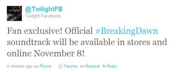 La B.O de Breaking Dawn disponible le 8 novembre ! + Site Officiel + Couverture officielle du CD