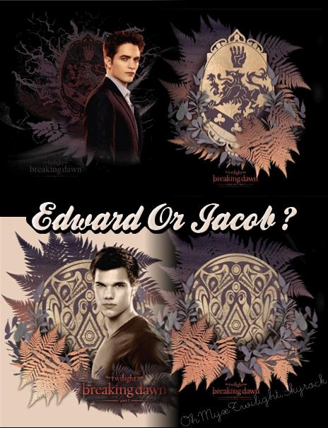 Tee Shirts Edward & Jacob [ Qui ne sont pas vraiment a mon gout (a) .. ]
