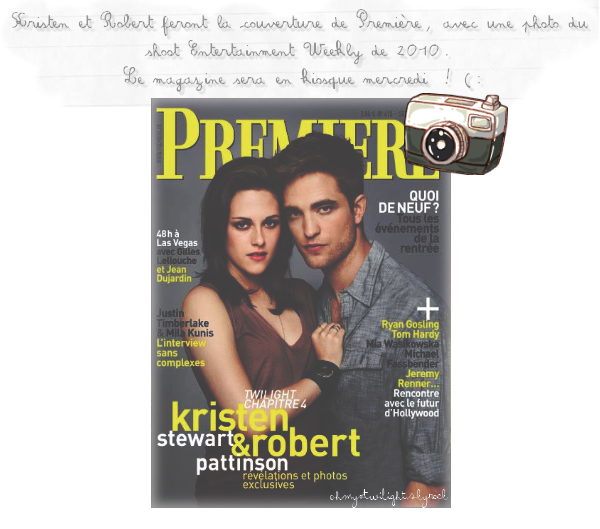 Rob et Kris en couv' du magazine ' Premiere ' + New Still Breaking Dawn