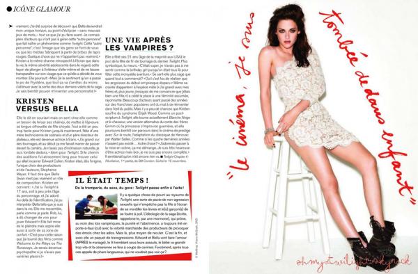 Kristen dans le magazine Glamour France [ Pour Décembre ] Clique sur l'image pour pouvoir lire.