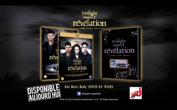 Le DVD De Twilight chapitre 5  Sort Aujourd'Hui