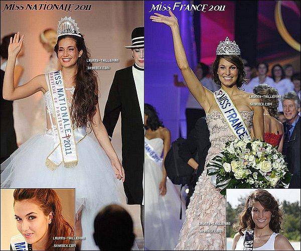 . Plutôt Miss France 2011, Laury Thilleman ou Miss Nationale 2011, Barbara Morel ? Personellement, elles sont très belles toutes les deux, mais je préfère Laury ;)  .