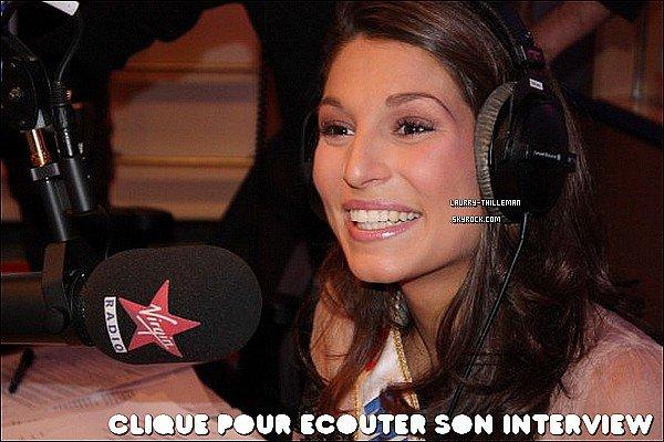 . 05/12 Laury donnant une interview sur Virgin Radio, dans l'émission de Bruno Guillon Elle est où ta couronne Laury ? :P .