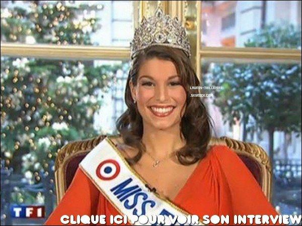 . 05/12 Miss France 2011 a été interviwé par Claire Chazaln au JT de TF1, à l'hotel de Crillon, à Paris Habillez en rouge, elle nous rappelle noel qui approche. .