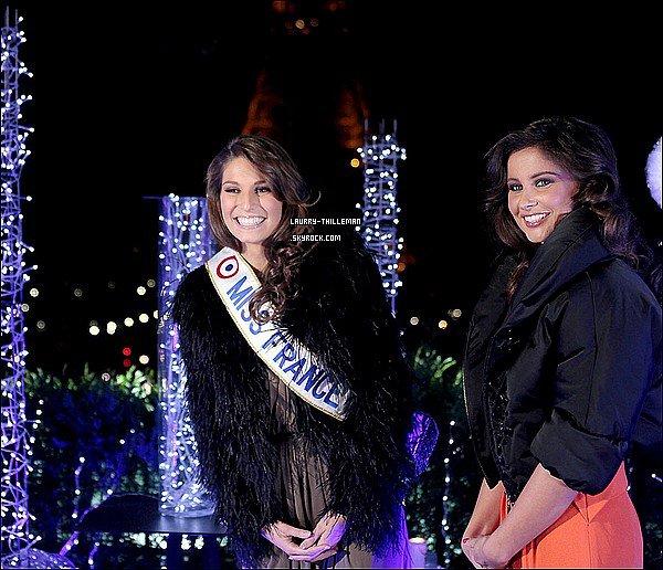 . 06/12 Laury & Malika Menard (Miss France 2010) étaient sur le tournage de l'émission spécial réveillon de Noel du 31 decembre 2010, qui sera présenté par Nikos sur TF1  .