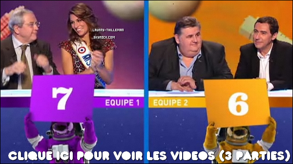 . 29/12 Laury présente sur le plateau de 'News Show' sur Canal +, où deux équipes s'affrontent au cours d'un jeu divisé en quatre manches qui revisite l'actualité de ces derniers mois avec un certain sens de l'humour  .