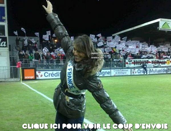 . 22/12 Laury T. donnant le coup d'envoie du match Brest - Marseille.   .