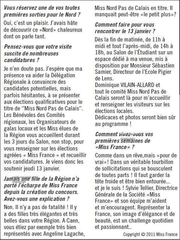 . 13/01 Découvre une interview de Laury avant le Salon de L'étudiant à Lille (voir article ci-dessous).   .