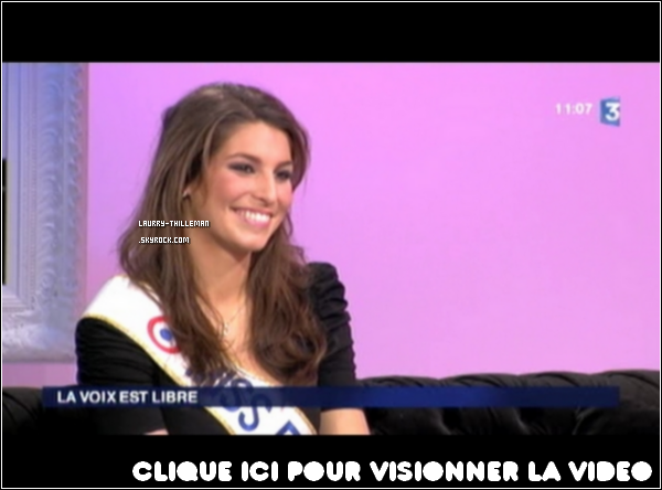 .  05/02  Laury était sur la chaine France 3 dans l'émission ' La voix est Libre '.  .
