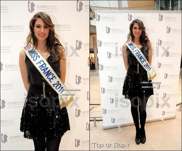 .  14/02  Laury était au alentour de 16h00 au Centre Commercial 'Les 4 Temps de la Défense' pour une séance photos et dédicaces  .