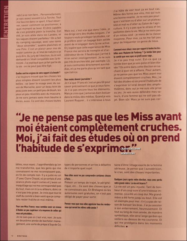 .  15/02   Découvrez quelques pages du magazine 'Breton n°67', où l'on y voit une interview de Laury.  .