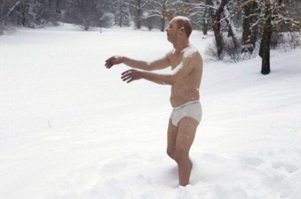Perdu dans la neige.