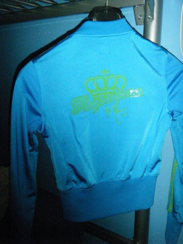 Veste addidas vert et bleu avec le bas