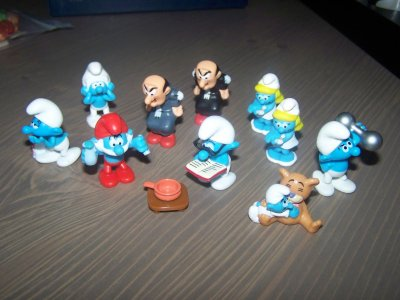 Ma serie schtroumpff 2011 avec  Variantes