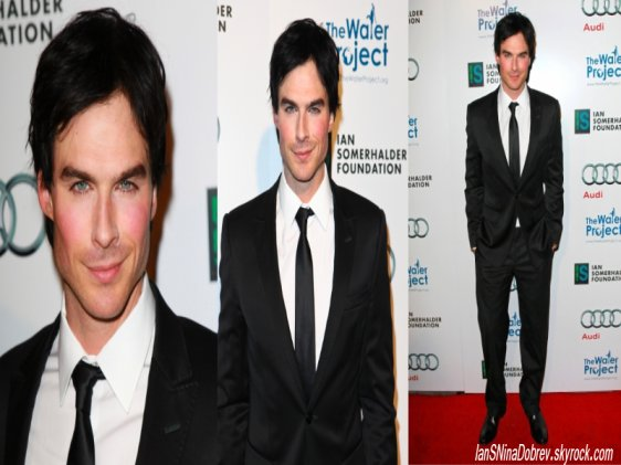 """Nina , Ian et Kat  le 10 décembre 2011 au diner de charité """"The Ripple Effect"""" au Sunset Luxe Hotel à Los Angeles."""