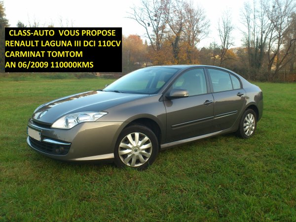 renault laguna iii dci 110cv carminat tomtom an 06 2009 110000kms vendu le 22 12 2012 class. Black Bedroom Furniture Sets. Home Design Ideas