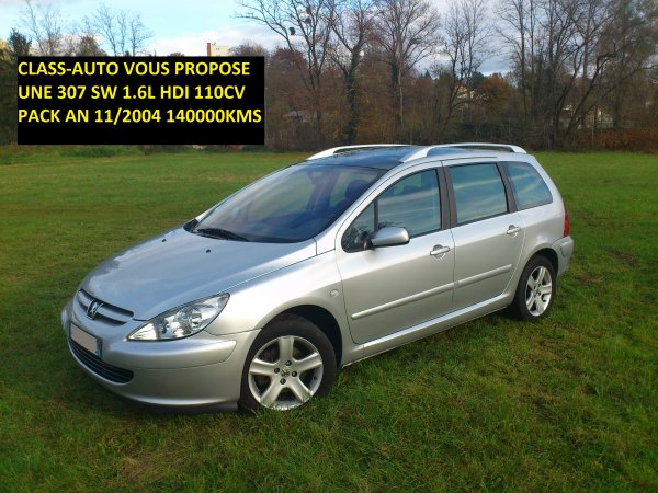PEUGEOT 307 HDI SW 1.6L 110CV AN 11/2004 143000KM 7 PLACES REVISEE (VENDU LE 27/11/2012)