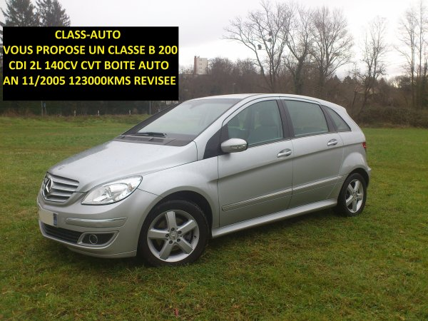 mercedes classe b 200cdi cvt boite auto 123000kms an 11 2005 vendu le 20 04 2013 class auto 69. Black Bedroom Furniture Sets. Home Design Ideas