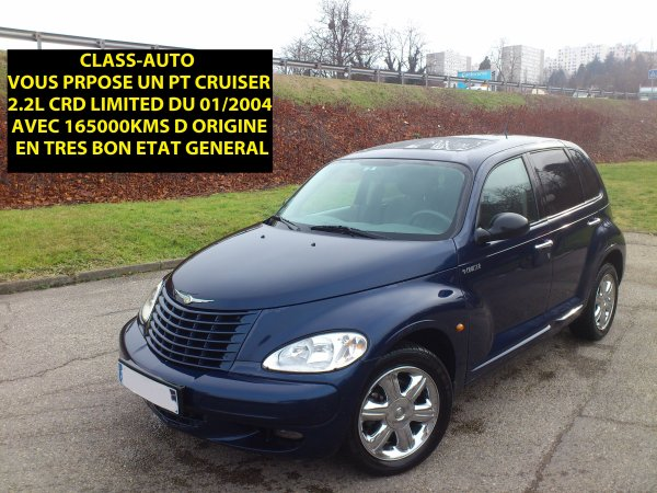 CHRYSLER PT CRUISER LIMITED 2.2L CRD 121CV AN 01/2004 165000KMS (VENDU LE 16/02/2013)