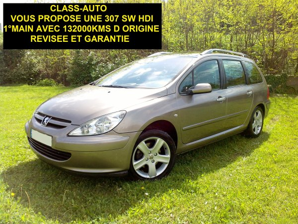 PEUGEOT 307 SW 2L hdi 110cv confort 132000 kms (VENDU LE 08/05/2013)