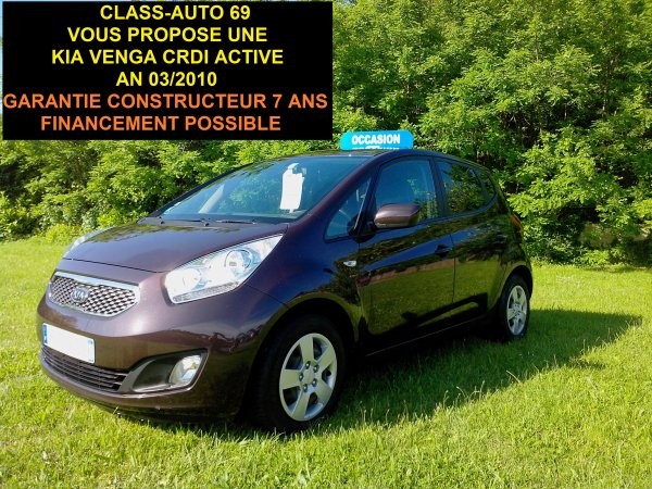 kia venga 1 4 crdi 90cv active garantie constructeur 7 ans an 03 2010 vendu le 26 07 2013. Black Bedroom Furniture Sets. Home Design Ideas