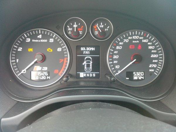 AUDI S3 SPORTBACK PHASE II AN 02/2009 38000KMS DSG (VENDU LE 19/01/2014)
