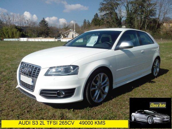 Audi S3 2l TFSI 265cv quattro 49000kms 11/2008 BLANC IBIS (VENDU LE 11/06/2014)