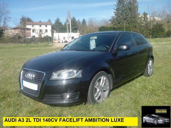 audi a3 2l tdi 140cv ambition luxe facelift an 07 2008. Black Bedroom Furniture Sets. Home Design Ideas