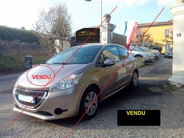 PEUGEOT 208 1.0L VTI ACTIVE 17.000KMS 03/2013 (VENDU LE 09/04/2015)