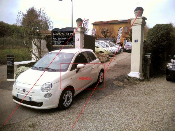Fiat 500 SPORT 1.2L 70CV AN 11/2009 90000kms 1ER MAIN (VENDU LE 12/05/2016)