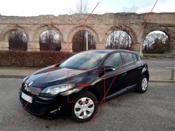 Renault megane 3 1.5l dci 110 CARMINAT TOMTOM GPS 03/2011 97000kms(VENDU LE 29/03/2017)
