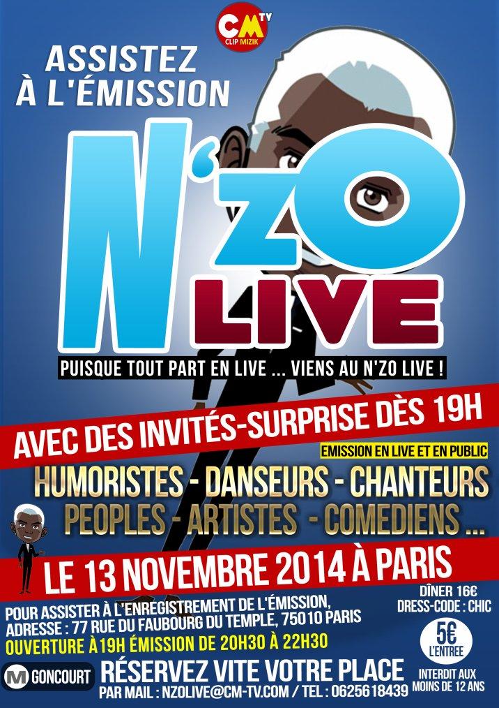 N'zo Live Emission TV - CLIP MIZIK