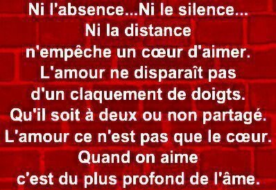 Ni l'Absence... Ni le Silence !!