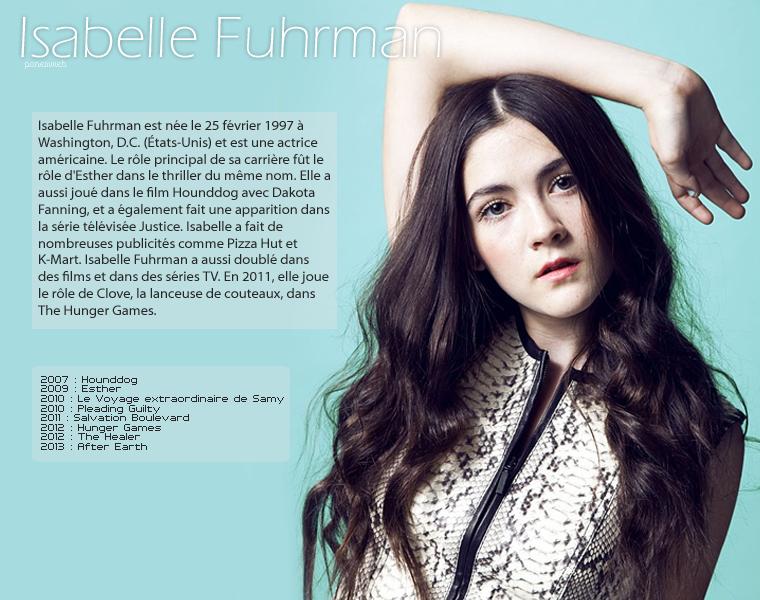 ᘛ Isabelle Fuhrman ᘚ