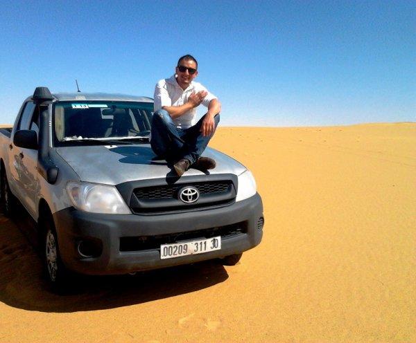 en Plein sahra ! 300km2