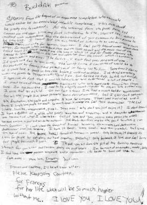 kurt cobain lettre d adieu la lettre d'adieu de kurt Cobain   La vie n'est qu'une  kurt cobain lettre d adieu