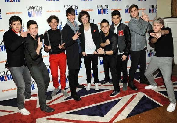 Les Big Time Rush et les One Direction :D