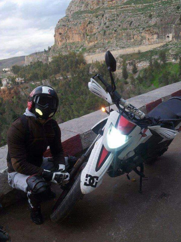 Moi avec ma deuxième femme c'est ma moto