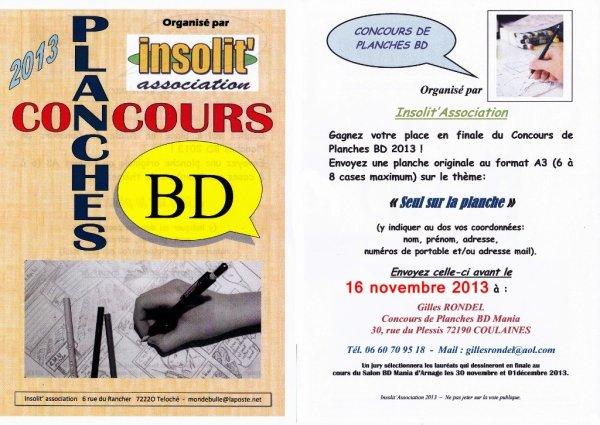 INFO IMPORTANT Concours de planche BD 2013
