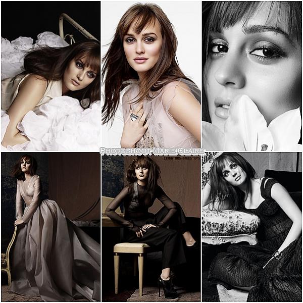 . PHOTOSHOOT • La belle Leighton en couverture du Marie-Claire (avril)Le photoshoot est très réussi ! Leighton a un regard magnifique sur ces photos  .