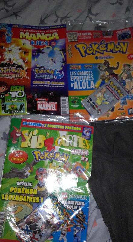 mes magazine que j'acheter tout les mois surtout Pokemon